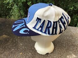 Vintage North Carolina Tarheels Hat Spell Out Snapback Rare Top Of The World