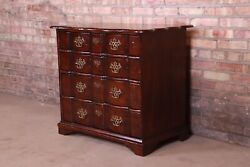 John Widdicomb Chippendale Four-drawer Walnut Block Front Chest Of Drawers