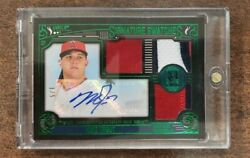 2016 Topps Museum Collection Mike Trout Signature Swatches Patch Auto 1/5🔥🔥