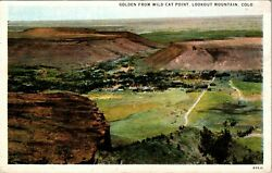 Golden from Wild Cat Point Lookout Mtn. Colorado Postcard