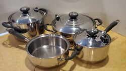 Royal Prestige Italy Waterless 7 Pc 9-ply Stainless Steel Cookware Set Thermal