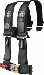 5 Point Seat Harness For Arctic Cat Prowler 700 Hdx 2012-2013 3 Pad Black