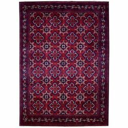 8and0392x11and0393 Hand Knotted Red Afghan Khamyab Extremely Durable Wool Rug G67701