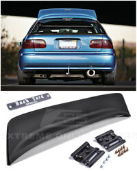 For 92-95 Honda Civic Hatchback Bys Style Rear Roof Wing Spoiler And Bys Emblem