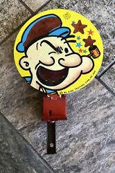 Vintage Rare 1959 King Features Popeye Tin Litho Spinning Friction J. Chein Toy