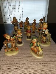 Lot Of 15 Vintage Hummel Goebel Porcelain Figurines. All In Perfect Condition.