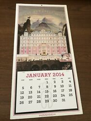 The Grand Budapest Hotel Embossed Rare Promo Movie Poster And Calendar 2014