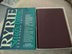 Nasb Ryrie Study Bible Bonded Leather Vintage In Box