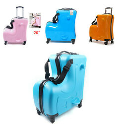 20 Kids Ride-on Trolley Luggage Travel Rolling Suitcase Boys Girls Luggage Cart