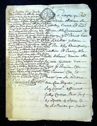 Authentic Documents Generality Of Grenoble 1682 - 12 Pages