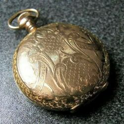 Elgin Decorated Hunter Case Hand-wingding Antique Pocket Watch 1908 15jewels