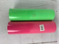 Tyvek Wrist Bands Neon Pink And Green Events 2 New Rolls 1/2