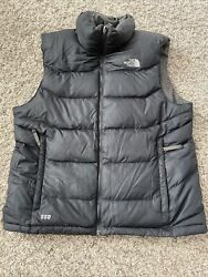 Mens THE NORTH FACE 550 Down Puffer Vest Black Size Large $41.99