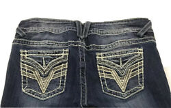 💖 VIGOSS Jeans The Dallas Slim Boot Embellished Womens Size 7 8 Length 33