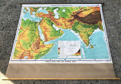 Denoyer-geppert Co. Physical Political South Asia And Middle East School Wall Map