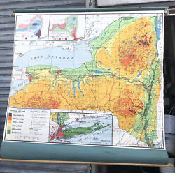 Nystrom And Co. York Physical Political Ps 131 Pull Down School Wall School Map
