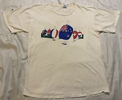 Vintage Whitbread Round The World Race 1989-90 Fort Lauderdale Xl T-shirt Yachts