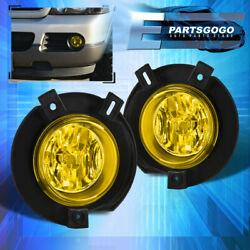 For 02-05 Ford Explorer U152 Replacement Yellow Bumper Fog Lights Lamps + Bulbs