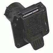 Trailer Wiring Harness Connector-7 - Pin Connector With Car Flap Box - Black