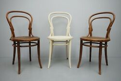 3x Jacob And Josef Kohn Viennese Secession Coffee House Chair Bugholzstuhl 2.z
