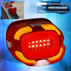 For Harley Davidson Softail Electra Red Integrated Led Tail Light Lamp Signal