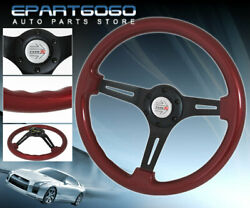 Tracking Drifting Racing Tuning Steering Wheel 6-bolt Hole Jdm Race Horn Button