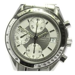 Omega Speedmaster Date 3513.30 Automatic Menand039s Silver Dial Ss From Japan [e0514]