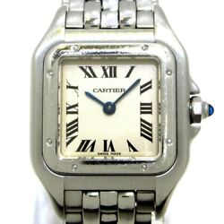 Auth Panthere Sm W25033p5 Silver Ss 628324uf Womens Wrist Watch