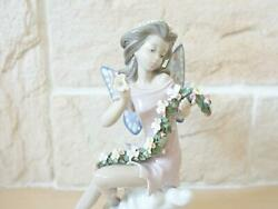 Used Liadro 1995 Fairy Of Flowers Ornament Height 20cm Very Rare