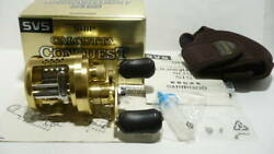 Used Shimano 04 Calcutta Conquest 51s Fishing Reel With Box And Manual
