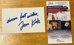 Tommy Kirk Signed Autographed 3x5 Card Jsa Certified Old Yeller Shaggy Dog