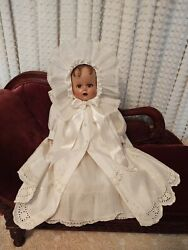 Vintage Antique Ideal Miracle On 34th Street 17 Baby Doll Original Dress💕