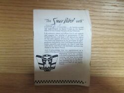 Vintage Ralston Purina Space Patrol Advertising Booklet Pamphlet Condition Issue