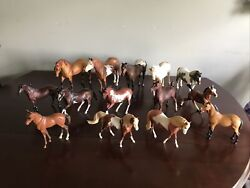 Mixed Lot Of 14 Vintage Breyer Molding Co/reeves Model Horses Collection