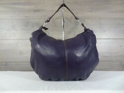 Lucky Brand Purple Leather Hobo Shoulder Bag Purse $40.00