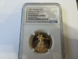 2021-w 25. Half Ounce Proof Gold Eagles Ngc Pf70 Ultra Cameo Early Release.