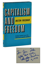Capitalism And Freedom Signed By Milton Friedman 1967 Nobel Prize