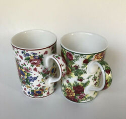 Royal Albert 2003 Lady Carlisle And Old Country Roses Floral Tea Cups Set Of 2