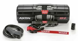Warn 5,500 Lbs. Axon 5500-s Winch With Synthetic Rope 101150