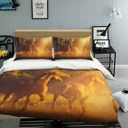 3d Lawn Horse O608 Animal Bed Pillowcases Quilt Duvet Cover Set Queen King Fay