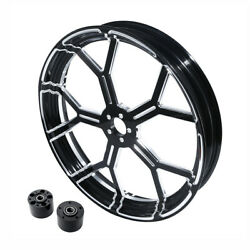 18 3.5and039and039 Front Wheel Rim Dual Disc Wheel Hub Fit For Harley Touring Fl 08-21 Us