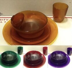 Tupperware Open House Acrylic Dinner/ Dessert Plates Bowls Tumblers Dippers