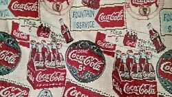 Coca-cola Tapestry Fabric 6 Pack And Logo Design 2 Yards Long By 56 Inches Wide