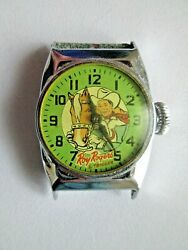 Vintage Roy Rogers And Trigger Watch 1950s Ingraham Not Working