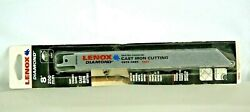 Lenox Diamond 8-in Grit Cast Iron Cutting Tile Reciprocating Saw Blade 10833