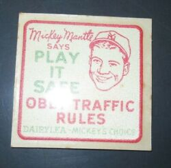Mickey Mantle 1950andrsquos Dairy Lea Decal