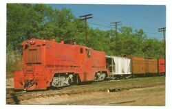 Elgin Joliet And Eastern Railway Rr Postcard Railroad Train Griffith Indiana In