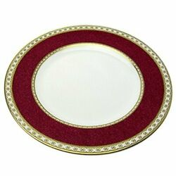 Wedgwood Ulander Powder Ruby Plate Size 18 Cm Pottery Red White Dish From Japan