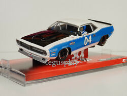 Slot Car Scx Scalextric A10048x300 Plymouth Barracuda White And Blue