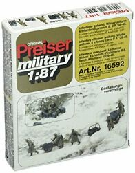 Preiser 16592 Former German Army Wwii Unpainted Figure Sets Ho Scale Military